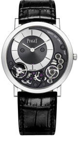 Piaget Altiplano Black and Silver Dial