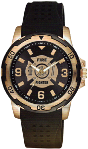 AquaForce Firefighter Brass and Stainless Steel Watch