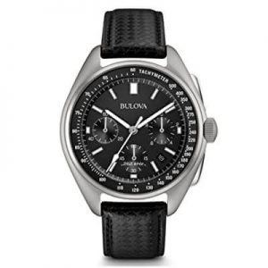 Bulova Men's Lunar Pilot Chronograph Leather Strap Watch