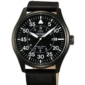 Orient 21-Jewel Automatic Aviator Flight Watch with Black Leather Strap ER2A001B