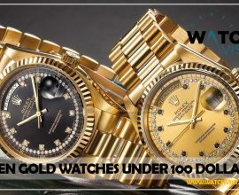 Men Gold Watches Under 100 Dollars